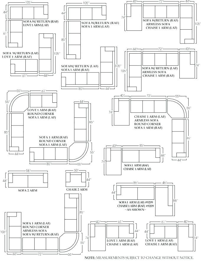 Dimensions Of A Couch Sectional L Shaped Couch Dimensions L