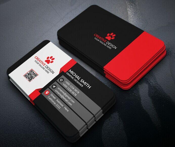 Free Business Card Design PSD Business Cards Pinterest Free - Modern business card design templates