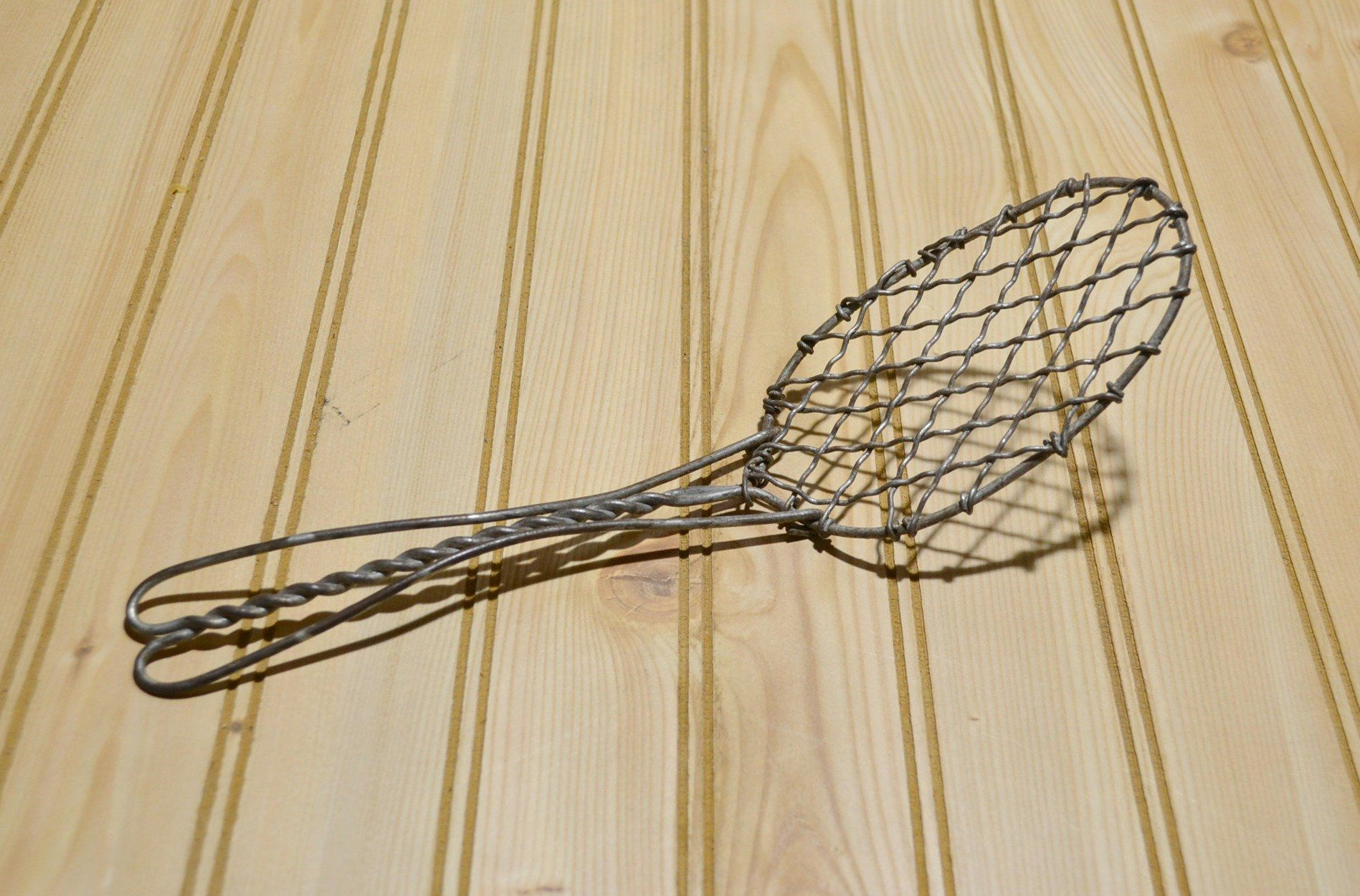 Vintage Antique Metal Wire Spoon Mixer Strainer Egg Beater Whip