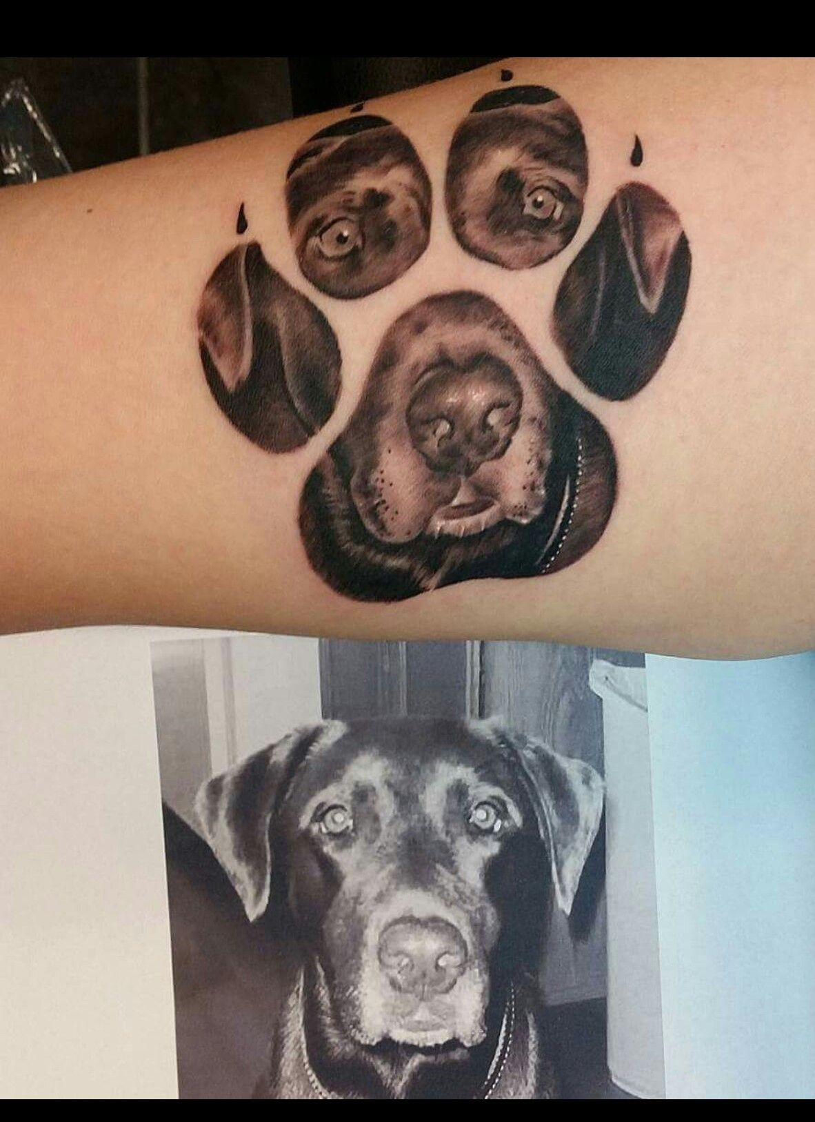 Obsessed I Need This For The Bubbies But Really Hard To Do In His Little Paw Print Dog Tattoos Pawprint Tattoo Print Tattoos