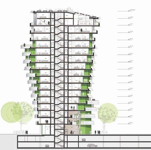 Polo Run Apartments: Galería De Torre Marco Polo / Behnisch Architekten