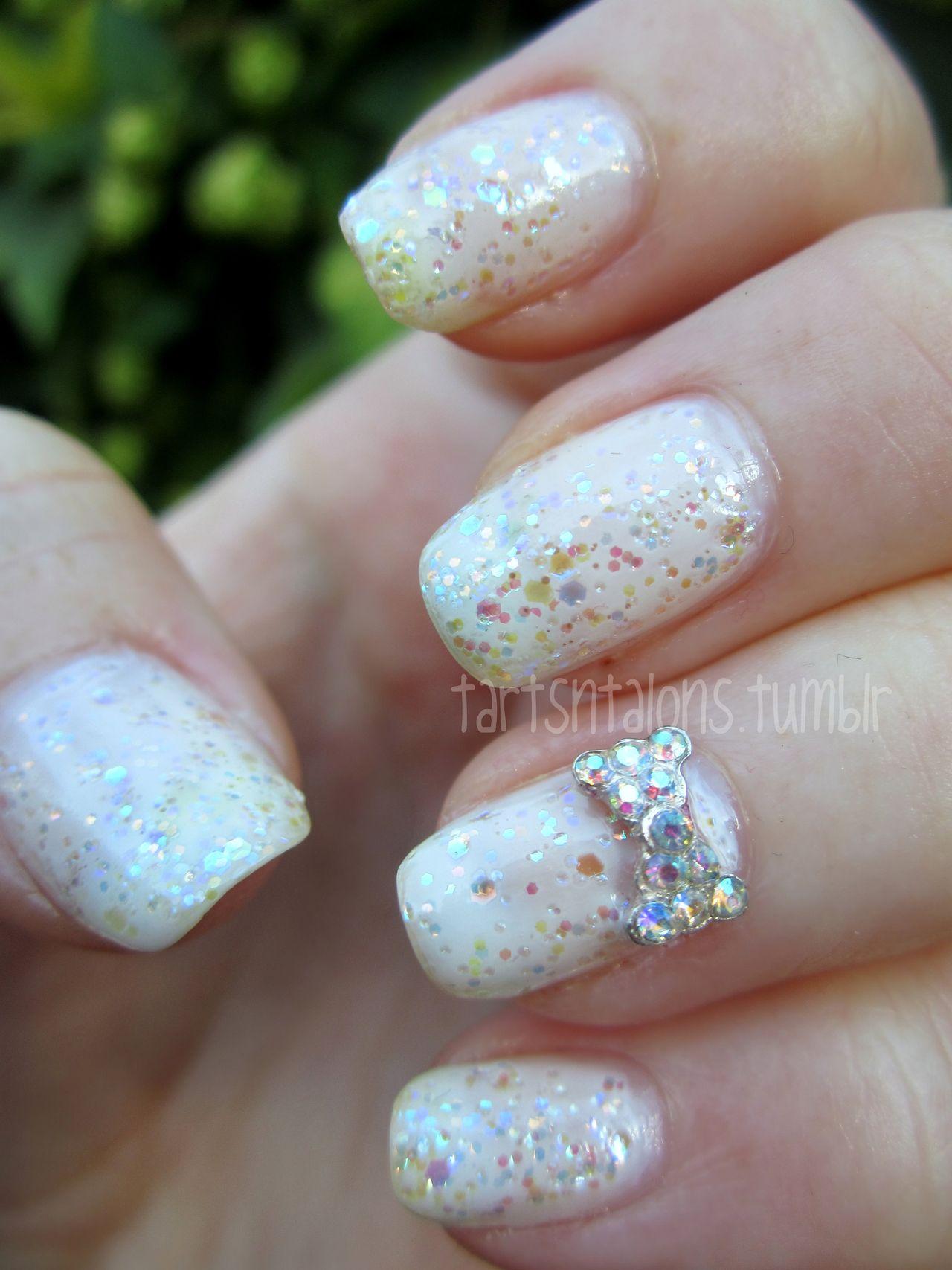 Essie Marshmallow, China Glaze Snow Globe nail art   hair,nails ...