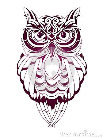 tatouage hibou stylis tatouage chouette et hibou pinterest tatouage hiboux illustration. Black Bedroom Furniture Sets. Home Design Ideas