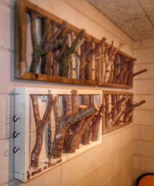 Garderoben Handgefertigte Garderobe Aus Holz Ein