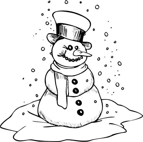 christmas  mr snowman on christmas is getting cold