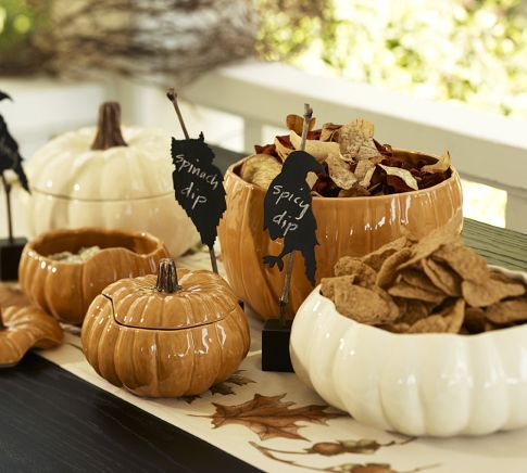 Pumpkin Serving Bowls From Pottery Barn Holidays Pinterest Adorable Decorating With Punch Bowls