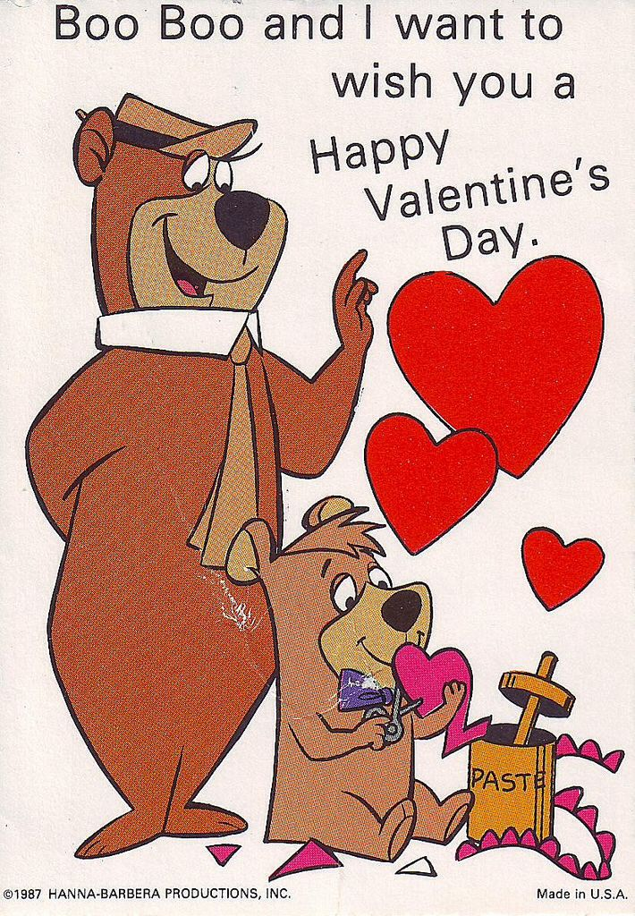 Yogi Boo Boo Old Cartoons Bear Valentines Yogi Bear