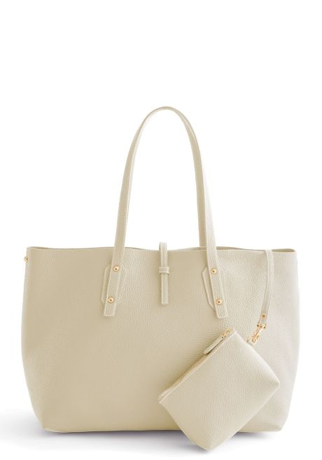 edd28fcb47 THE ANNIE TOTE IN BONE Great as an every day bag