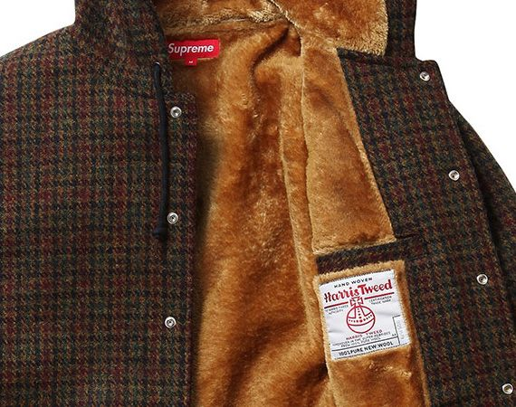 Harris Tweed Hooded Coach jacket | Supreme | Pinterest | Harris ...