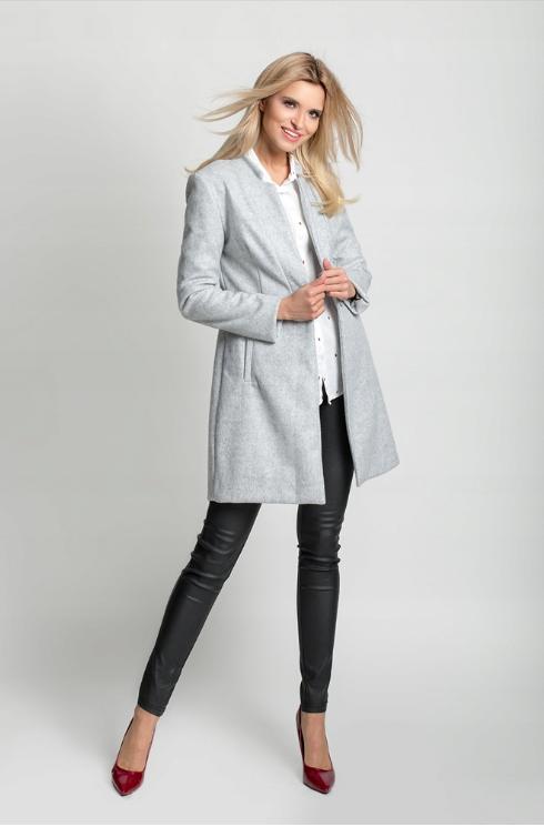 Plaszcz Damski Szary Plaszcz Plaszczyk Jesienny Plaszczyk Zimowy Ootd Stylizacja Damska Outerwear Fashion Style