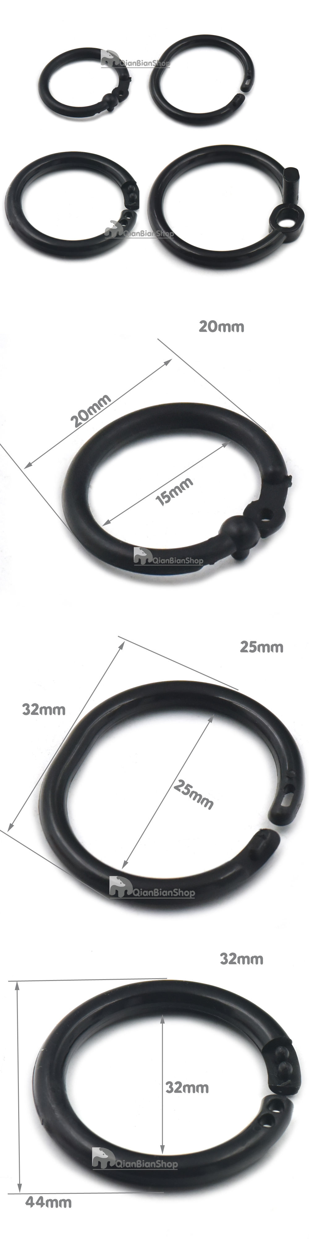 Rings 113341: 15Mm 25Mm 32Mm 45Mm Plastic Open O Rings For Dee ...