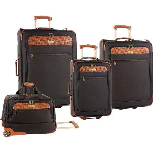 Tommy Bahama Luggage Retreat Ii 4 Piece Stylish Set, Chocolate ...