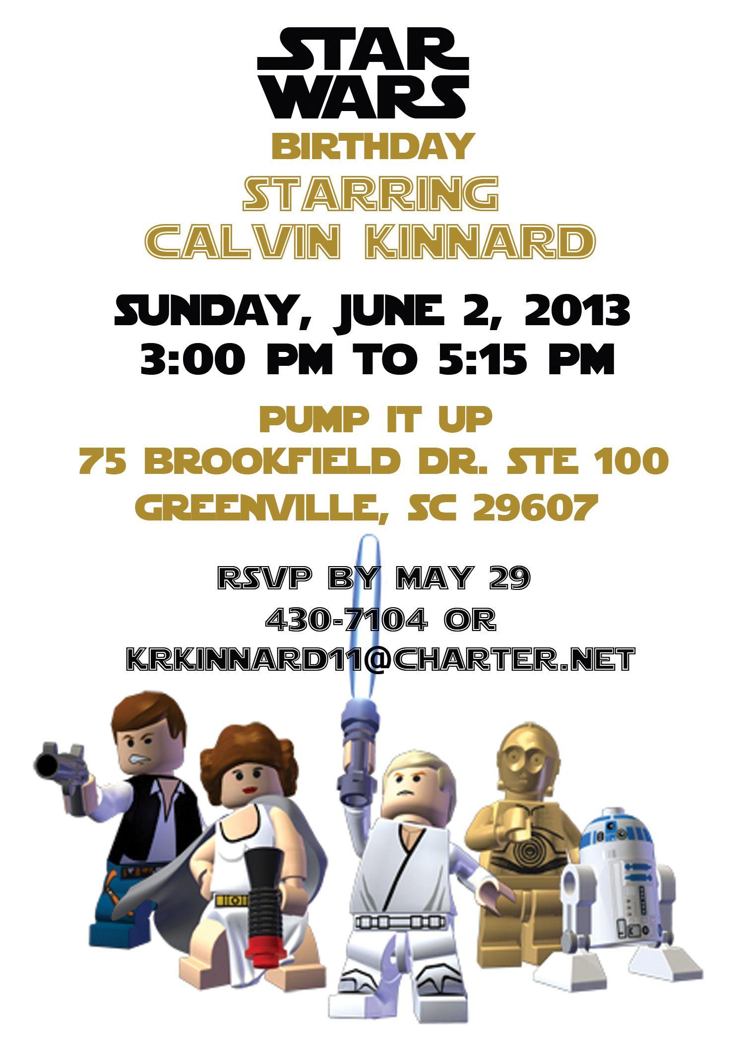 Lego Star Wars birthday party   star wars party   Pinterest   Star ...
