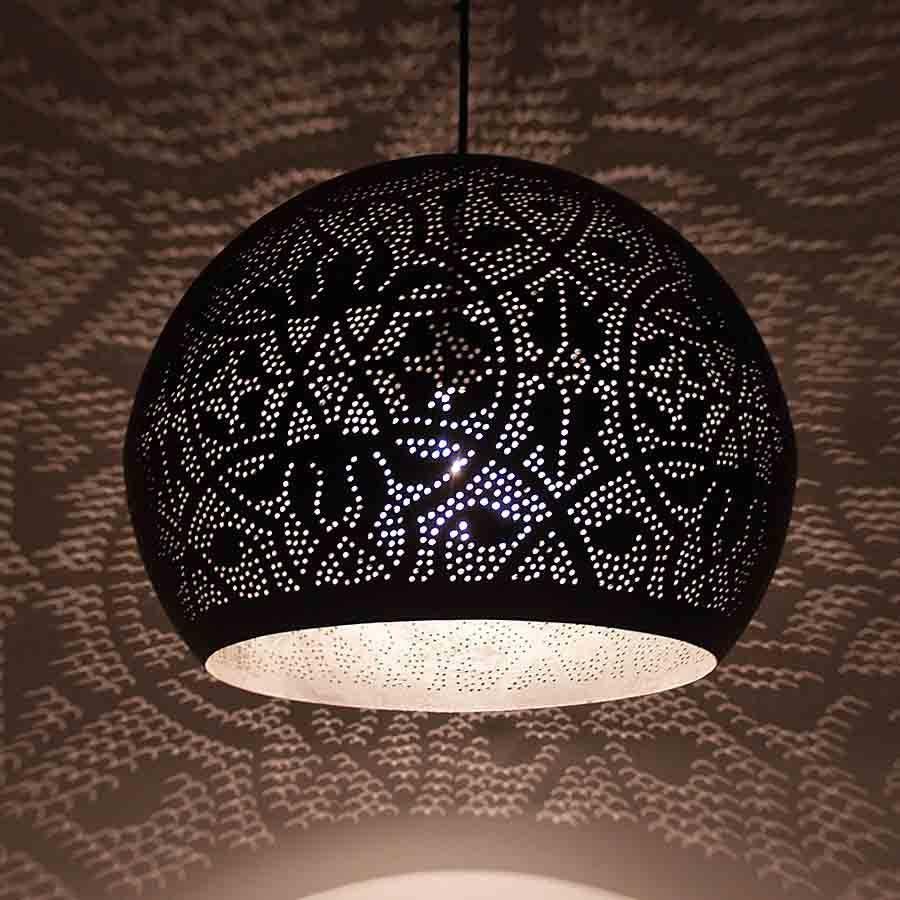 Filigrian ronde bol hanglamp met zilver | verlichting | Pinterest ...