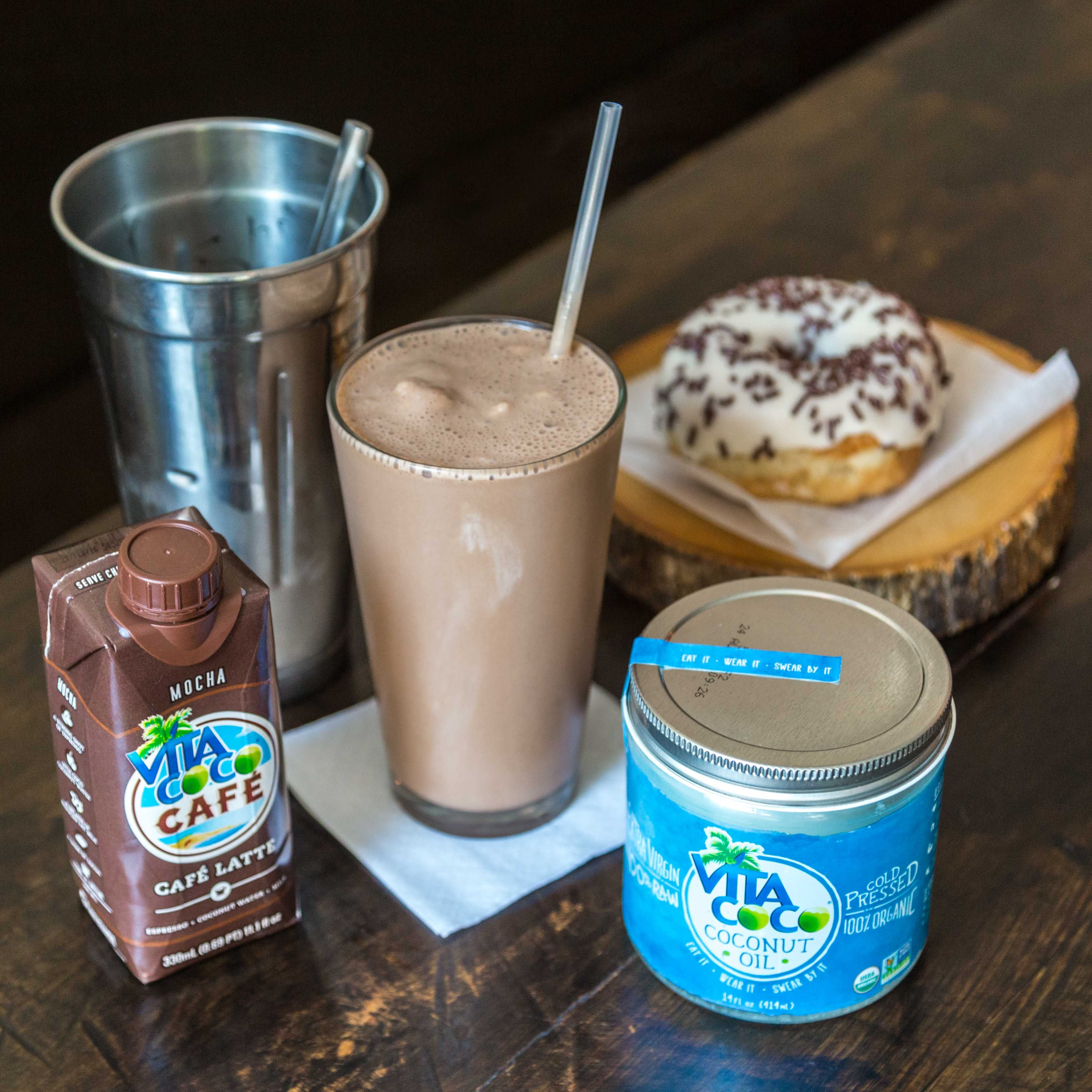 A new spin on the traditional chocolate milkshake for National Chocolate Milkshake Day.  Blend 1½ cups of Vita Coco Café Mocha, 2 tablespoons of Vita Coco Coconut Oil, 2 cups (or a pint) of your favorite chocolate ice cream, and 2 tablespoons of cocoa powder and enjoy!