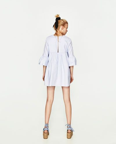 1abf88a3 JUMPSUIT DRESS WITH RUFFLED SLEEVES-Short-DRESSES-WOMAN | ZARA United States