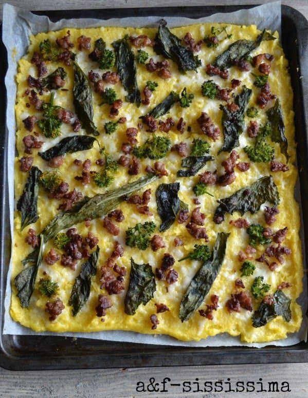 acqua e farina-sississima: polenta con salsiccia e broccoletti