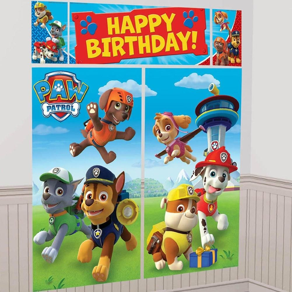 Party Banner Wall Scene Setter Paw Patrol Scene setters Paw