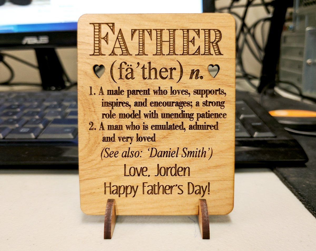 Definition of the perfect dad personalized fathers day