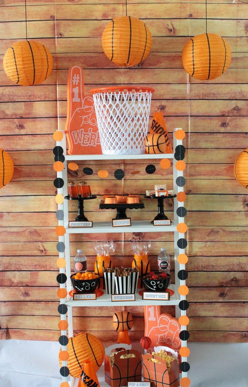 A basketball party that is definitely a slam dunk