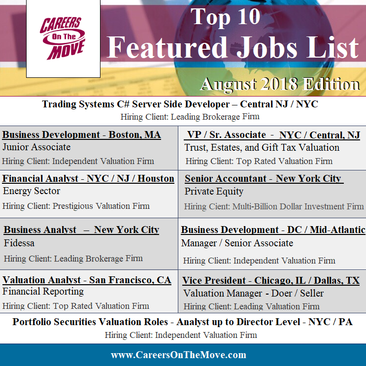 View These Hot Jobs And More By Clicking The Link Careers Finance Valuation Accounting Business Finance Jobs List Of Jobs Job