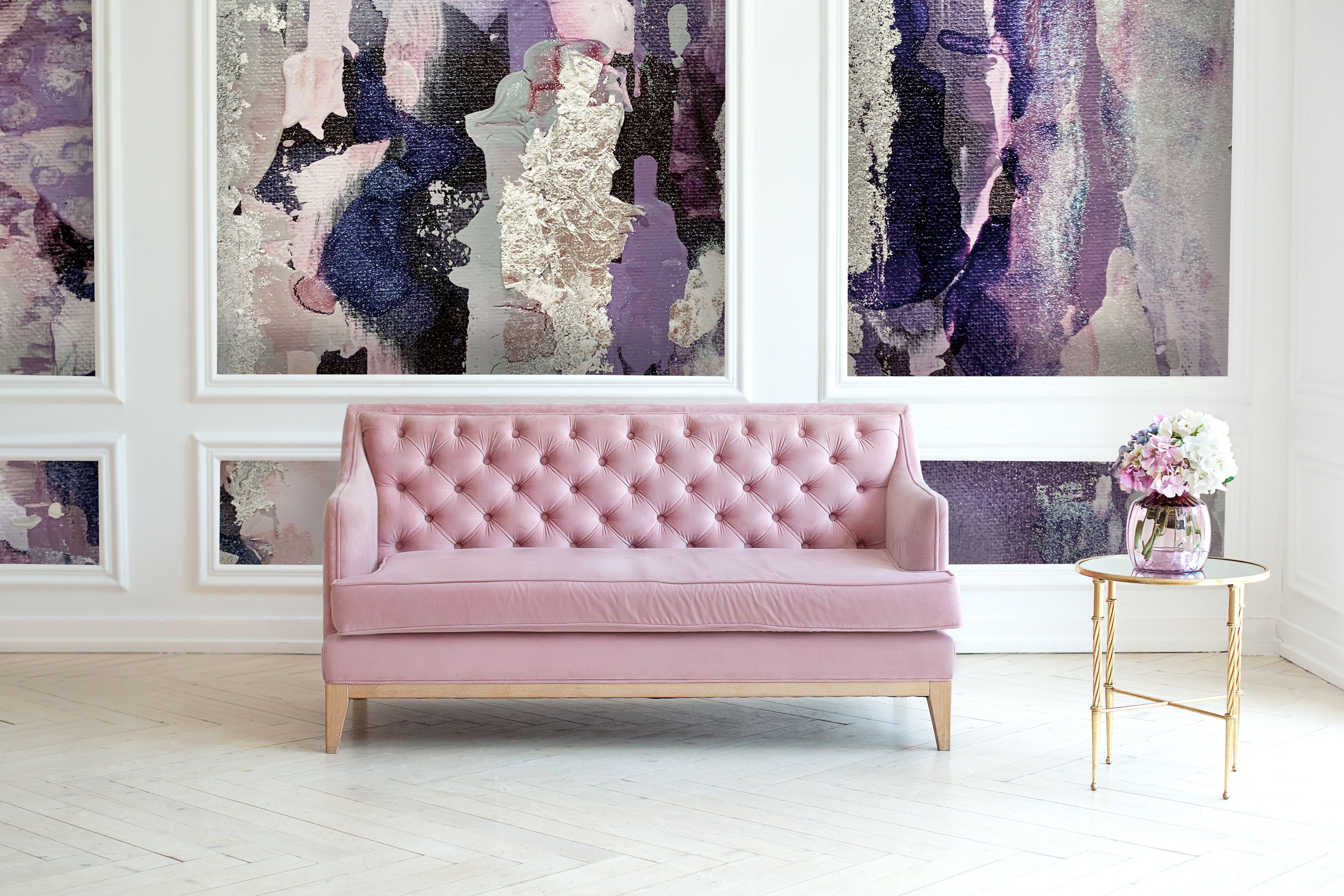Lavender Removable Wall Mural Peel And Stick Wallpaper Wall Etsy Purple Wall Art Removable Wall Murals Purple And Gold Wallpaper