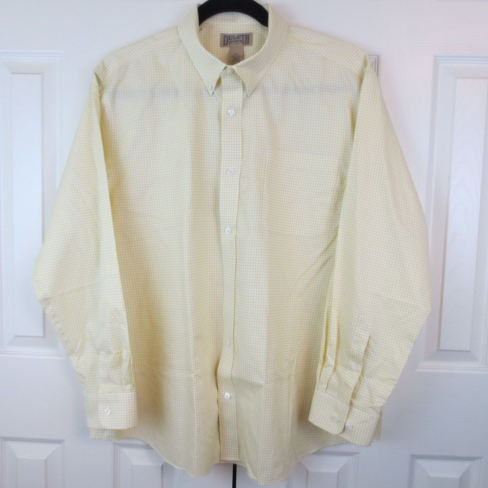 afca0479903 MEN S Sz 2XL WRINKLE FIGHTER LONG SLEEVE SHIRT  DuluthTradingCo  ButtonFront