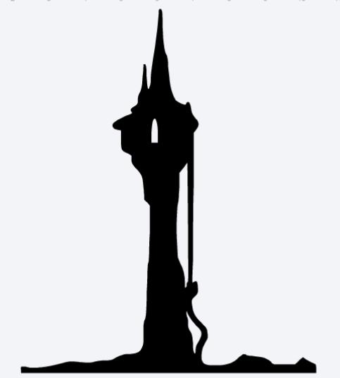 Rapunzel S Tower Disney Castle Silhouette Castle Silhouette Disney Silhouette Printables