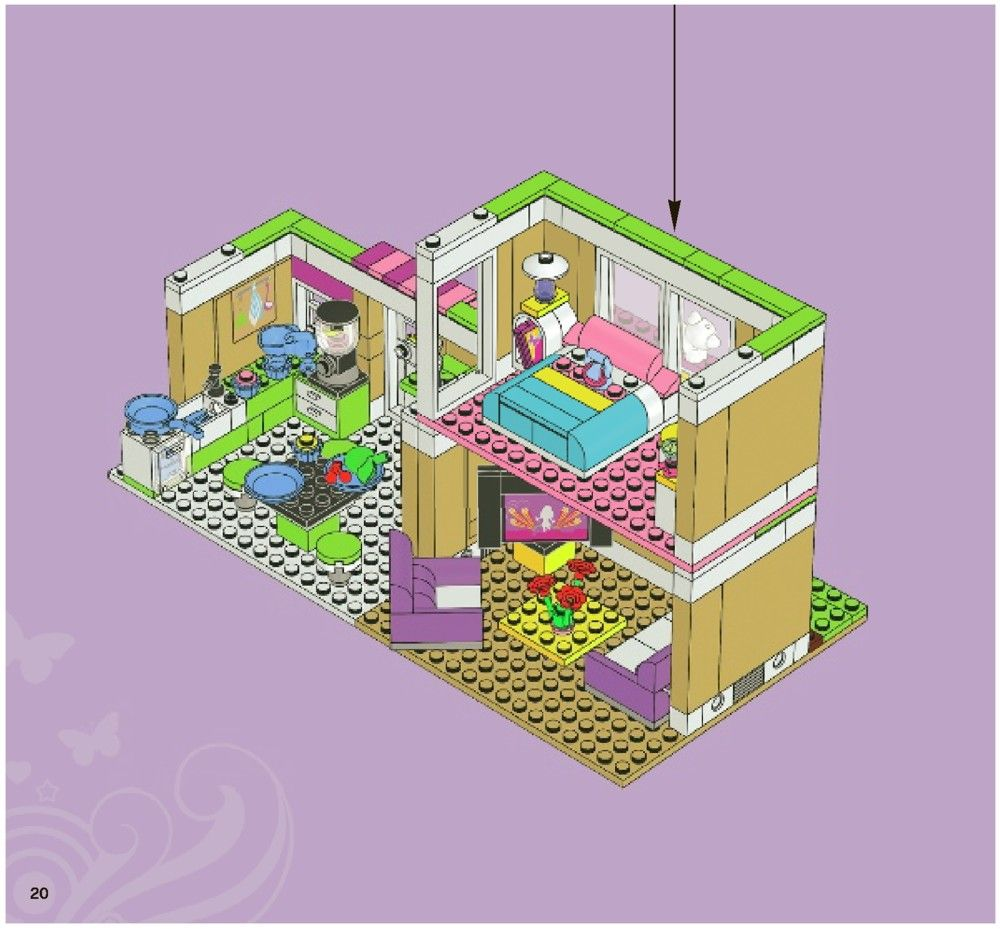 Friends Olivia S House Lego 3315 Lego Lego Design Lego Room