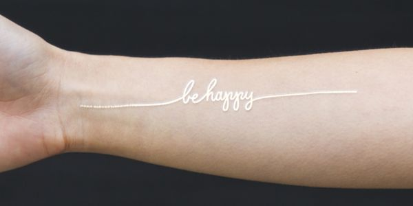 8d191473cf442 Be Happy (Gold) | ink. | Tattoos, Temporary tattoo, Tattoo website