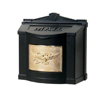 Gaines Mail Boxes Wm 3wm 3 Wm 3 Eagle Design Door Hardware Wallmount Mailbox Black And Polished Brass Plaque Wall Mount Mailbox Mailbox Decor Unique Mailboxes