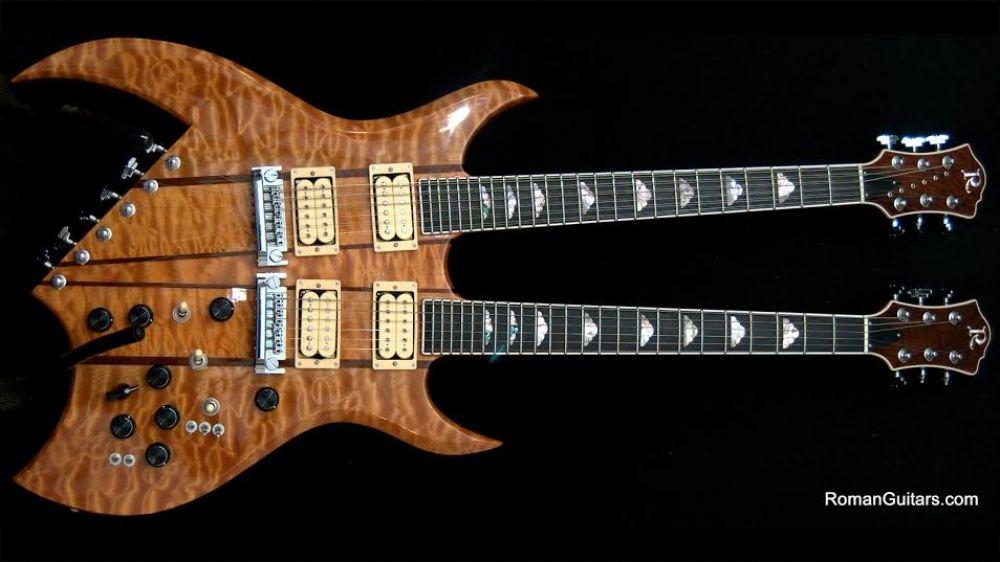 bc rich double neck bich natural quilt guitar bc rich pinterest guitars. Black Bedroom Furniture Sets. Home Design Ideas