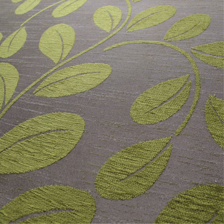 A Green Chenille Upholstery Fabric Mobberley Pistachio