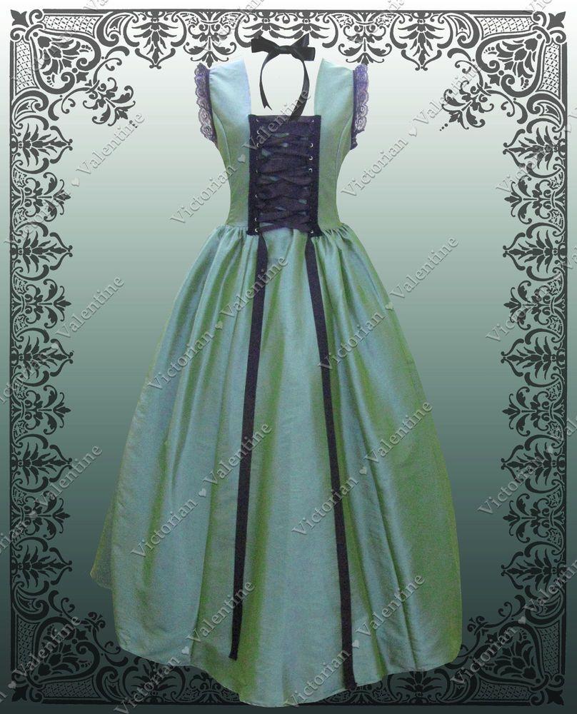 Victorian Alice in Wonderland Civil War Steampunk Turquoise Gothic ...