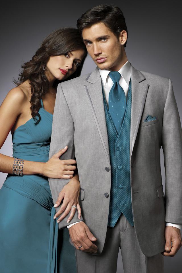 Jean Yves Heather Grey Savoy Slim Fit Tuxedo | Jim\'s Formal Wear ...