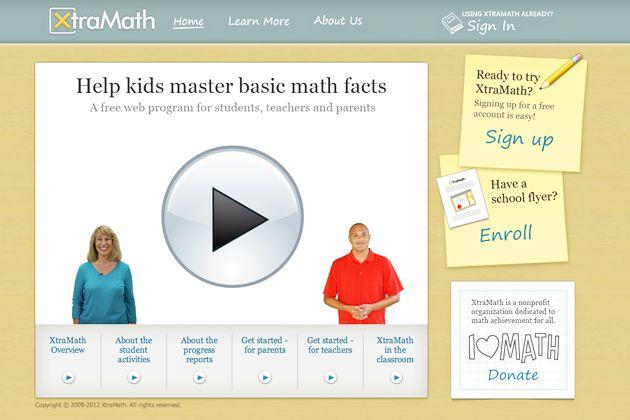 XtraMath | Math fact fluency, Math facts, Math fact practice