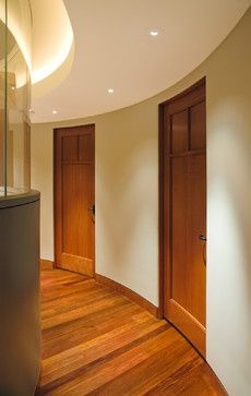 Doors For Curved Walls Curved To Fit The Wall Curved Walls Corridor Design Modern Hall