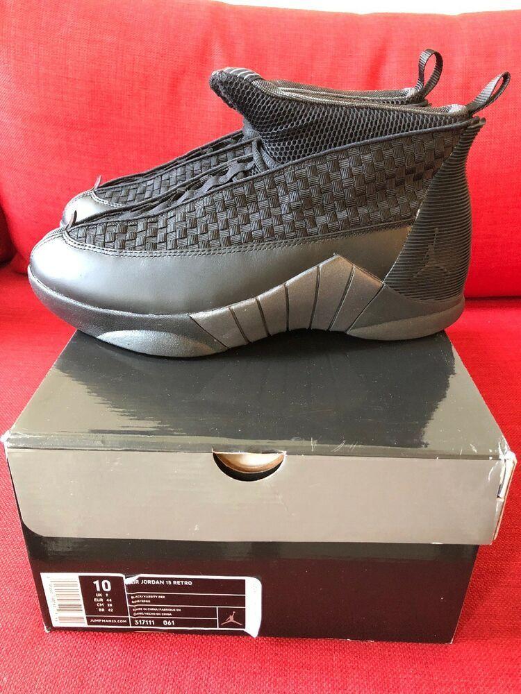 8837b47004e ... Men s Shoes. eBay  Sponsored Nike Air Jordan XV 15 SIZE 10 OG 2000  Black Stealth Varsity Red