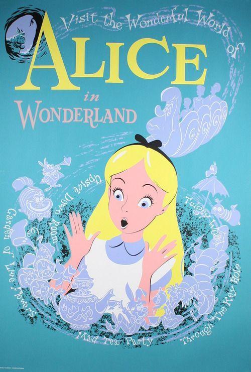 Alice In Wonderland 1951 Vintage Disney Posters Disneyland Vintage Poster Disney Posters