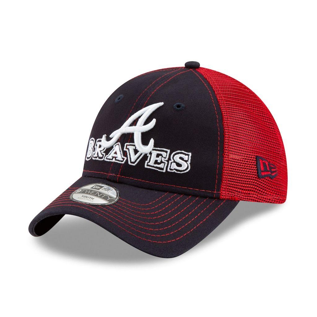 Youth New Era 9twenty Cheerfull Pick Atlanta Braves Cap New Era 9twenty Atlanta Braves Hats For Men
