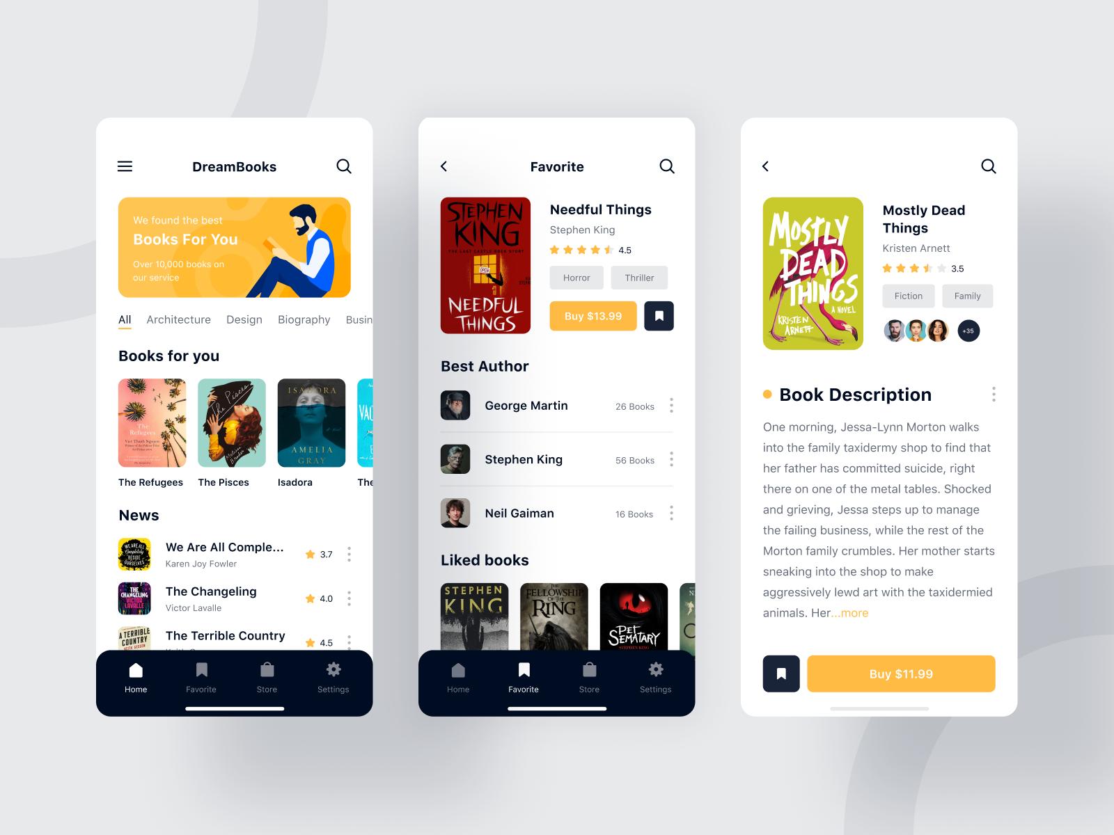 Book Store App / DreamBooks by Vladimir Gubanov