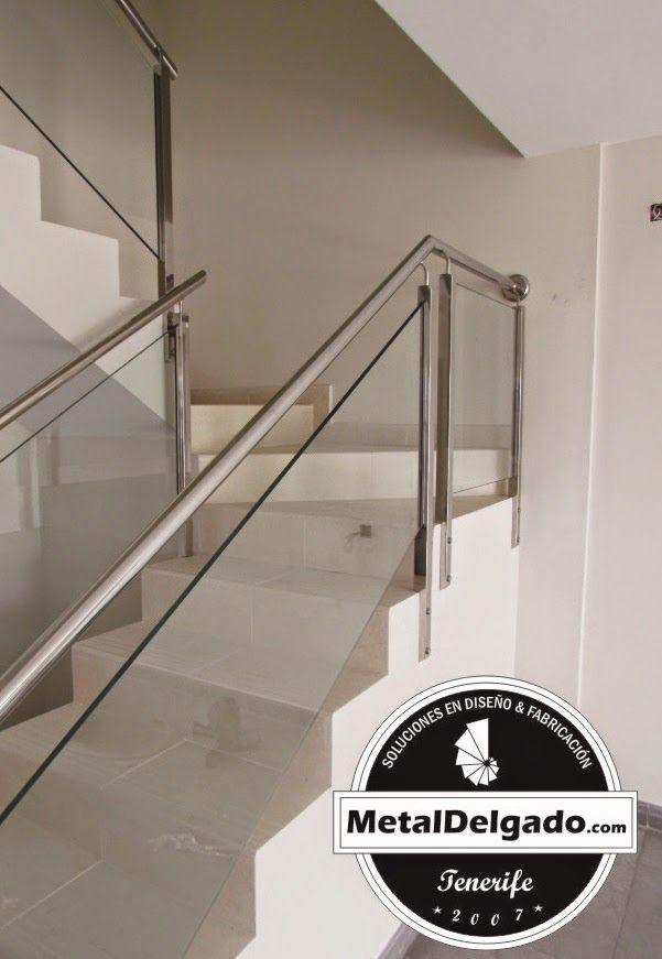 Metal delgado dise a fabrica e instala barandas en acero for Fabrica escaleras aluminio