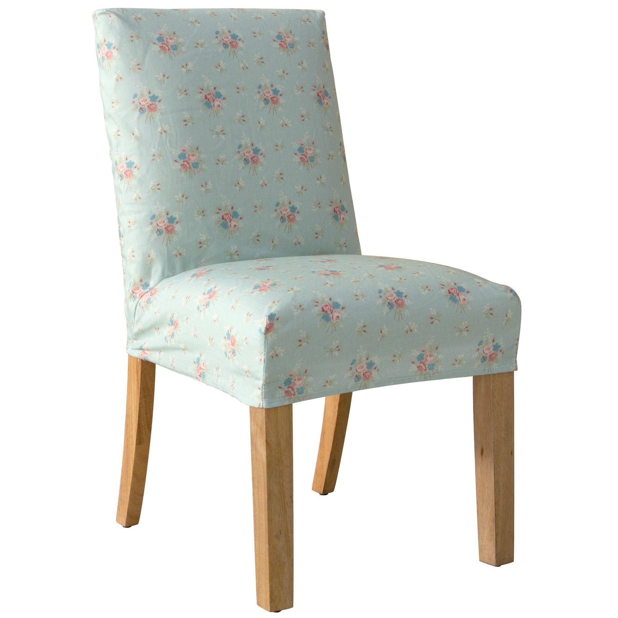 Slipcover Dining Chair Anastasia Blue Simply Shabby Chic