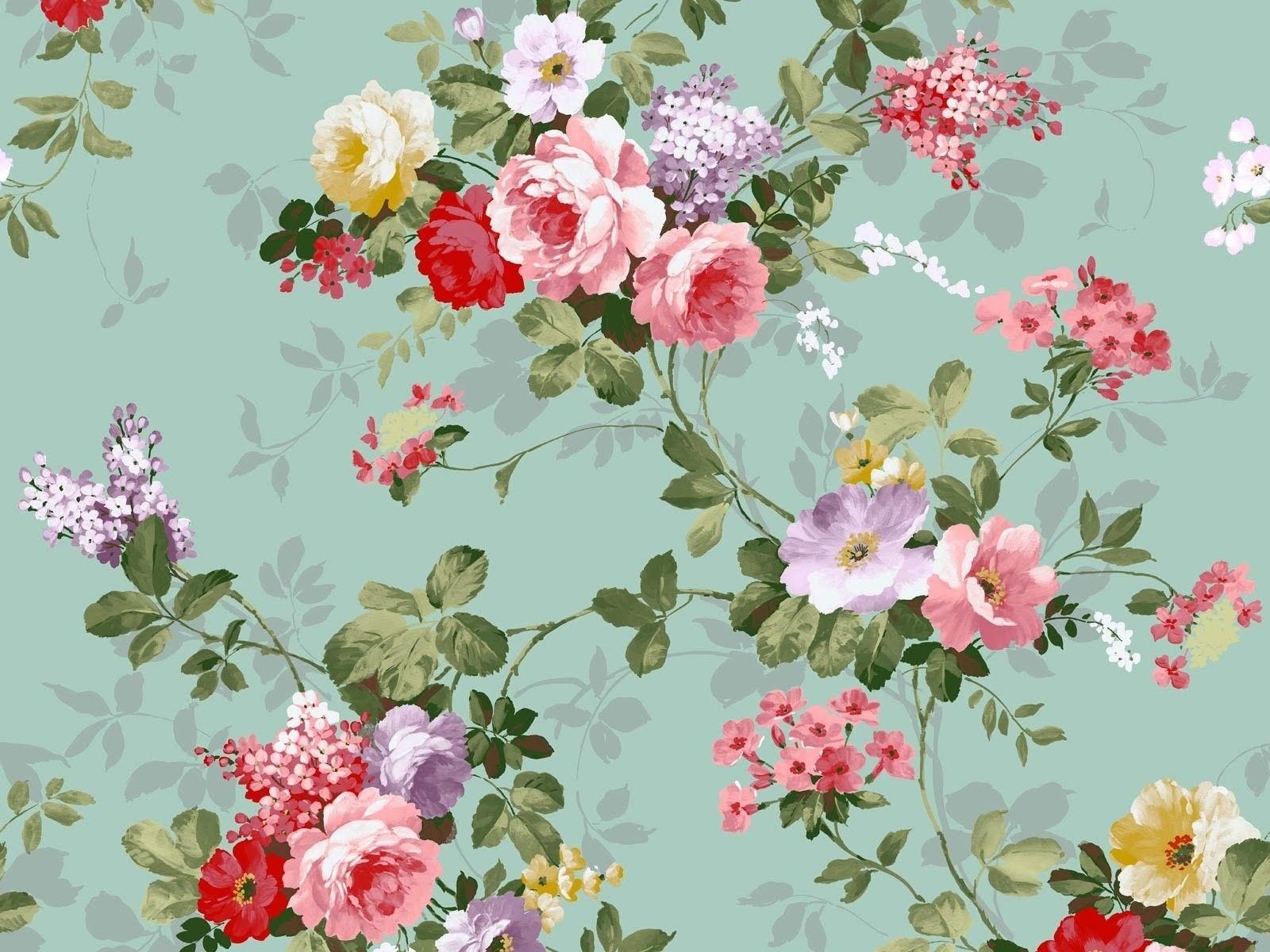 10 Latest Vintage Floral Wallpaper Desktop Full Hd 1080p For Pc