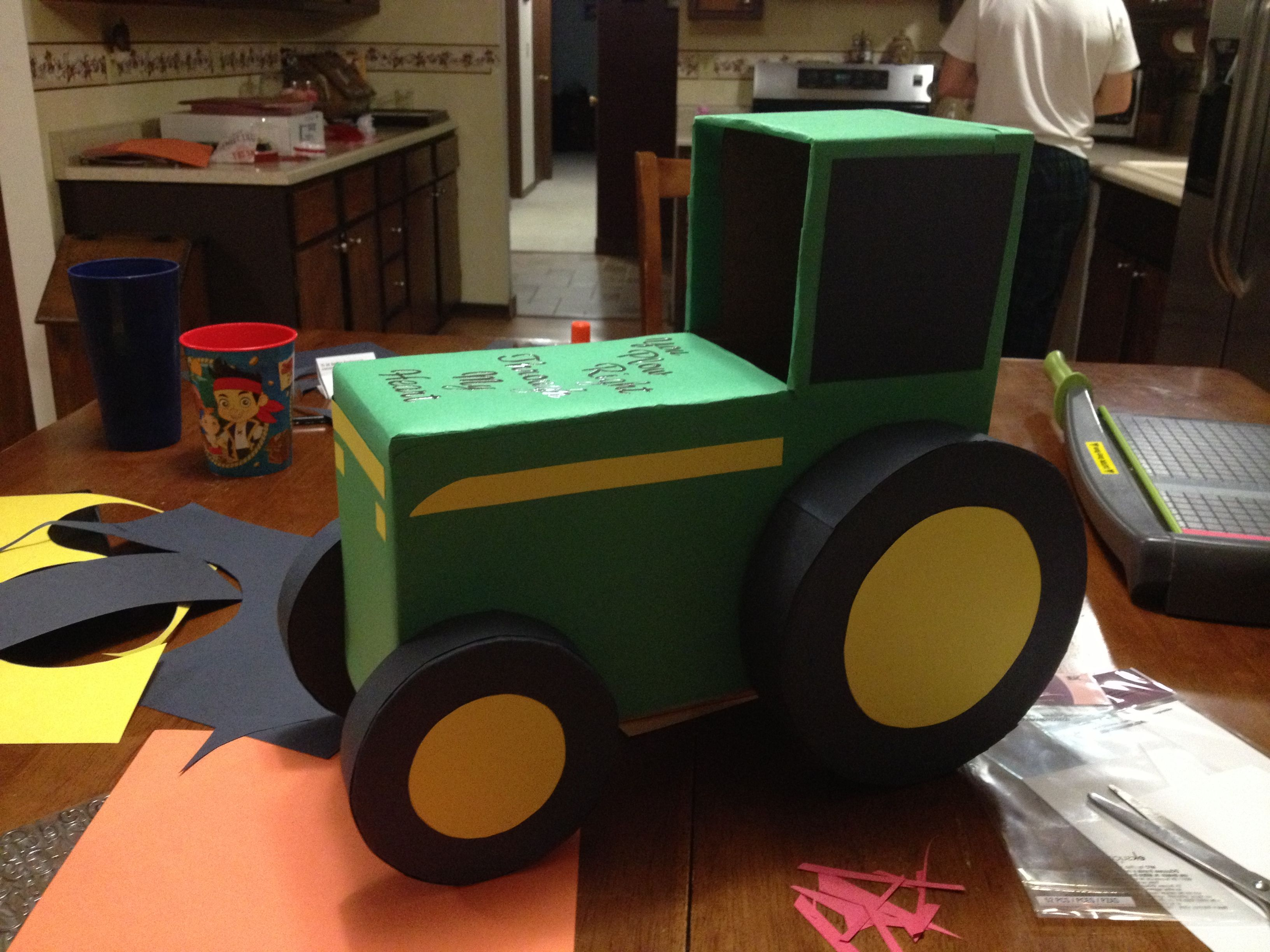 tractor valentines day box - Valentines Day Boxes For Boys