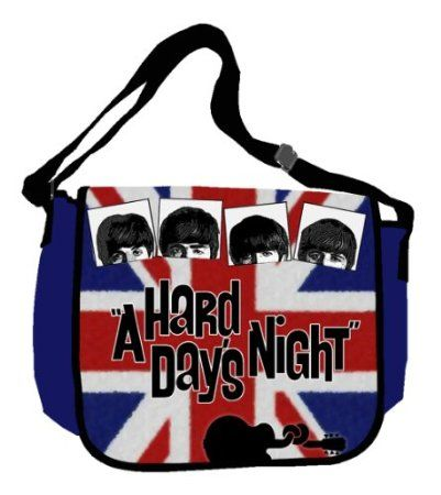 Amazon.com: Silver Buffalo XX5801MB Radio Days Hard Day's Night British Flag 15-Inch by 12-Inch Messenger Bag, Multi-Color: Home & Kitchen