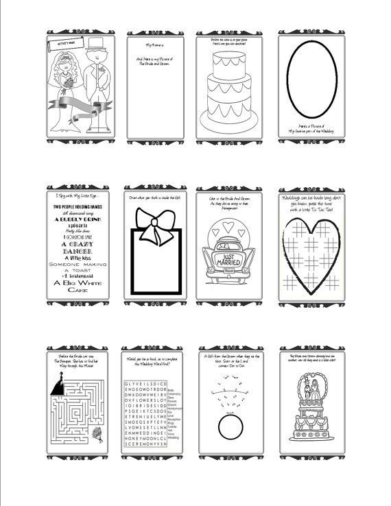 Wedding Goody Bags For Kids Google Search Wedding Activities Kids Wedding Activities Wedding Coloring Pages