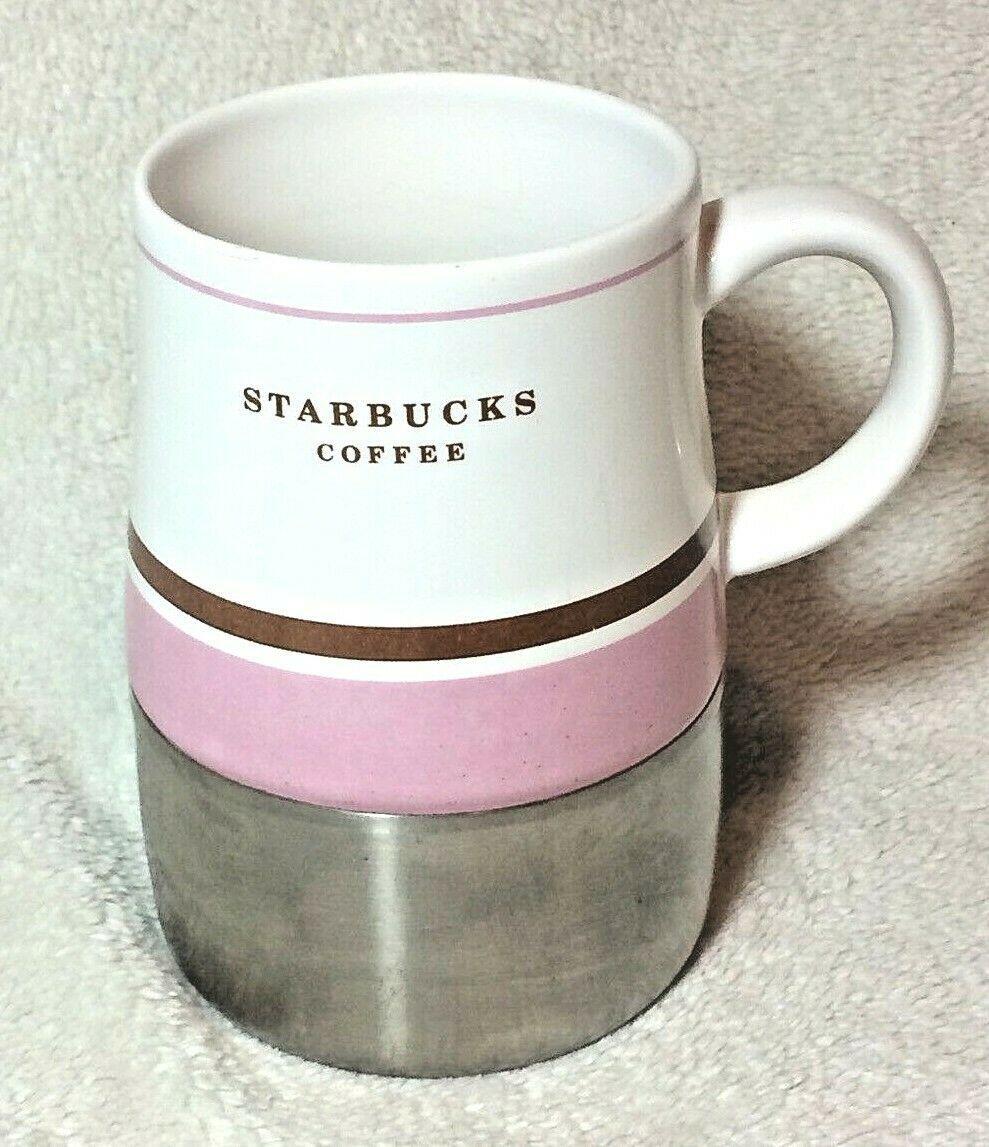 Starbucks Coffee 2006 Ceramic & Stainless Steel Travel Mug