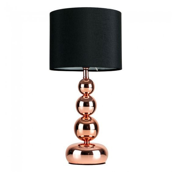 Modern Touch Table Lamp With Copper Base Stuff To Buy Pinterest