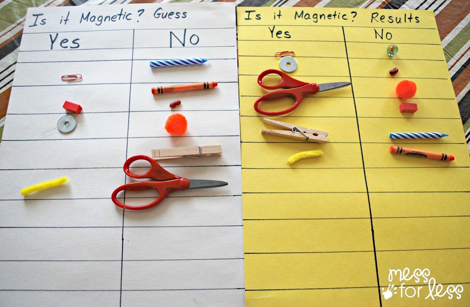 Preschool Magnet Science Activity